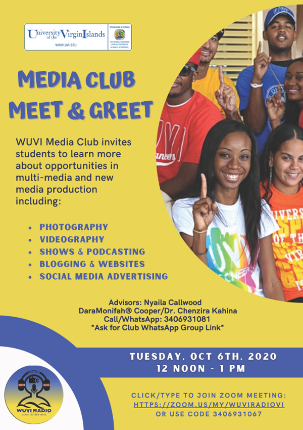 Join the WUVI Media Club! Meet & Greet this October 6, 2020 via Zoom